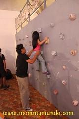 Wall Climbing at Camp Explore's Booth