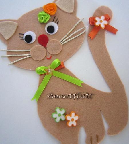 ♥♥♥ Viram o meu gatinho por aí? by sweetfelt \ ideias em feltro