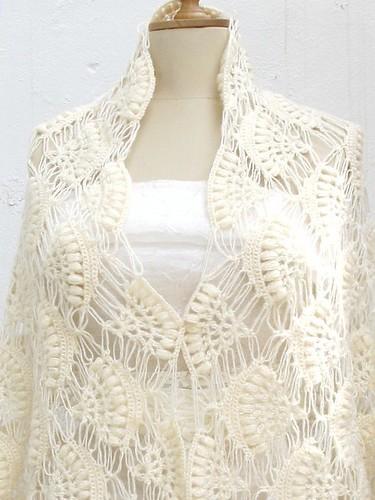Wedding Shawl Bridal Bolero Crochet Ivory Handmade A Photo On