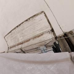 Last Remains of an Old Lift - Westbahnhof, 1150 Wien Mariahilf (hedbavny) Tags: vienna wien autumn art station spur austria sterreich track lift kunst diary herbst elevator railway bahnhof demolition september baustelle fisheye buildingsite tagebuch remain umbau aktion abriss bahnsteig neubau aufzug rebuilding 1150 geleise schiene gleis mariahilf westbahnhof melancholie fischauge wienvienna sterreichaustria westbahn aktionismus 15bezirk club16 hedbavny ingridhedbavny