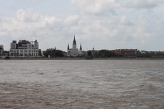 French Quarter (joseph a) Tags: ferry louisiana neworleans frenchquarter mississippiriver jacksonsquare stlouiscathedral jaxbrewery jacksonbrewery
