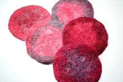 Coasters, Felted