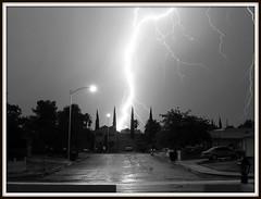 Split the uprights (N4WL1NS) Tags: street blackandwhite bw house reflection tree nature car moving lasvegas nevada bolt lightning mighty streelight powerfull streephotography