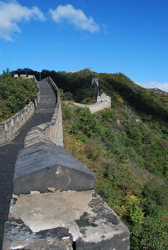 Weg zur ersten Station auf der chinesischen Mauer