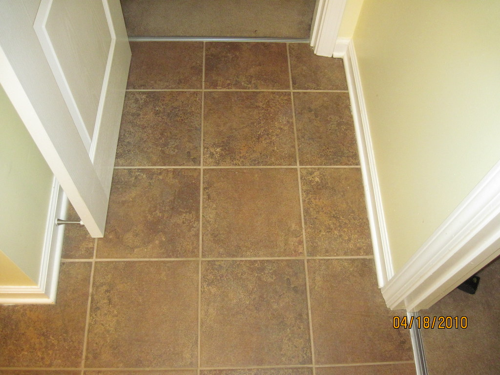 Ceramic tile carpet transition