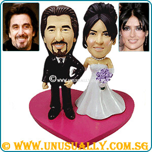 Personalized 3D Traditional B&W Wedding Couple Figurines