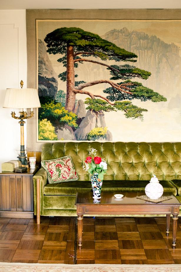 jamie beck green sofa