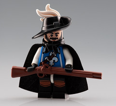 All for One and One for All! (~Ghost Soldier~) Tags: brown hat lego awesome bap prototype cape proto combos minifigure musket musketeer brickarms pototipz