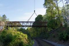 Pedestrian bridge setting For The South Fork Peachtree Creek Trail