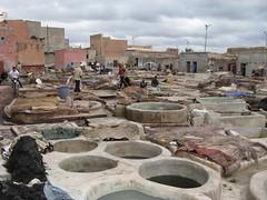 Curtume de peles em Marraquexe