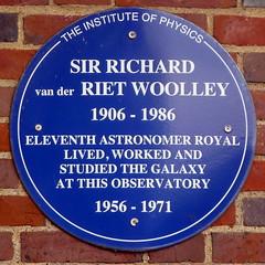 Photo of Richard van der Riet Woolley blue plaque