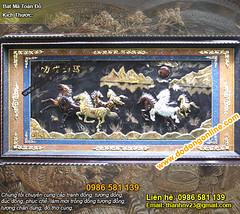 Tranh Bát Mã Truy Phong, tranh bat ma, ma dao thanh cong, bat ma toan do