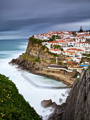 Azenhas do Mar (CResende) Tags: ocean longexposure blue houses white portugal village sintra swimmingpool clifs azenhasdomar pnsc cresende gettyimagesiberiaq2