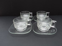 60s Arno Crystal Glass Italian Coffee Cups (Vrai Vintage) Tags: glass coffee vintage design italian perfect designer antique style retro cups arno 20thcentury collectable midcenturymodern midcentury mcm vrai 20thc mid20thcenturydesign vraivintage vraivintage60s