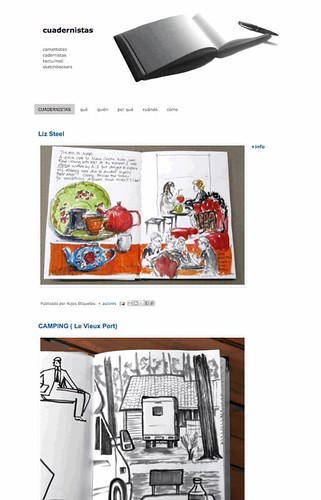 a new collective blog about sketchbooks