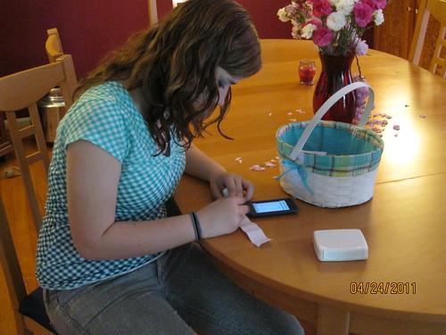 4/24/11:  Becca used her iPod touch for her clues.