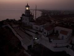 Phare Des Mamelles - Lit (Jeff Attaway) Tags: ocean africa old lighthouse building night dusk westafrica senegal dakar kap atlanticocean kiteaerialphotography afrique autokap almadies pharedesmamelles senegal lighthouseofthebreast