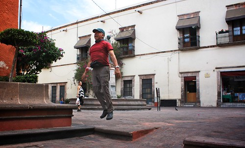 Levitation Event on the streets in Queretaro, Mexico