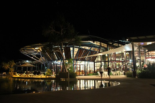 Kingfisher Bay comes to life at night.