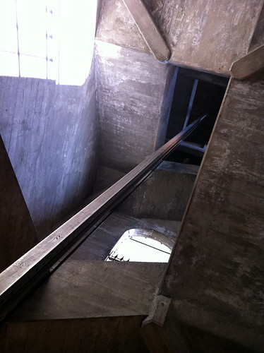 Secret Stairway under Burrard Bridge - looking up from the bottom
