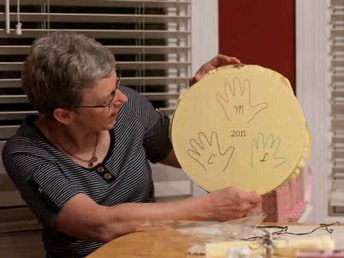 Handprints for G'Mom