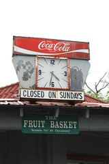 Classic Coca-Cola Clock in Mt. Airy (Adam's Journey) Tags: northcarolina cocacola mountairy mayberry 2011 canonxsi