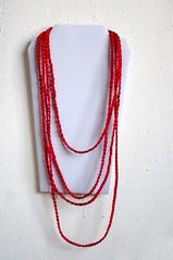 red satin plaited chain necklace (miyukim26) Tags: red copyright cord necklace handmade etsy satin plaited madeit bluecaravan madeinmelbourne miyukimardon northmelbournemarket moncdesign northcotemarket