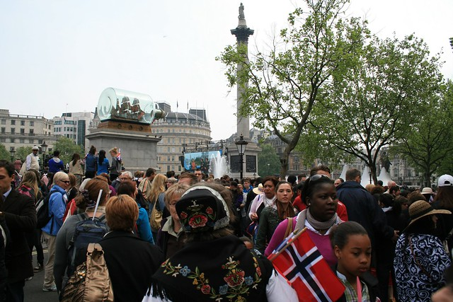 Norwegians at Trafalgar Square