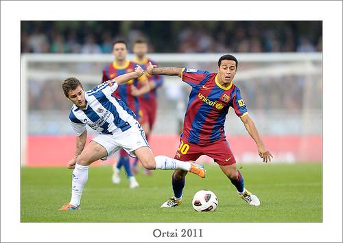 Real Sociedad-F.C. Barcelona by Ortzi Omeñaka
