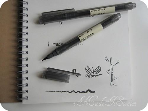 brush pens made in japan