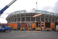 Segundo día de montaje - Estadio Azteca 09