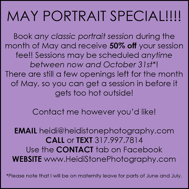 May Portrait Special