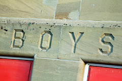 Boys (Jerry Bowley) Tags: school calgary boys sandstone doors walk kingedwardschool