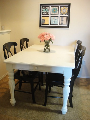 Dining table and chairs refurbished