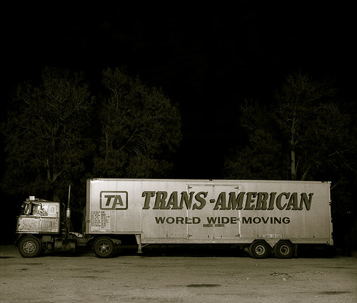 Steve Fitch, Truck, Highway 66, Ludlow, California, 1972