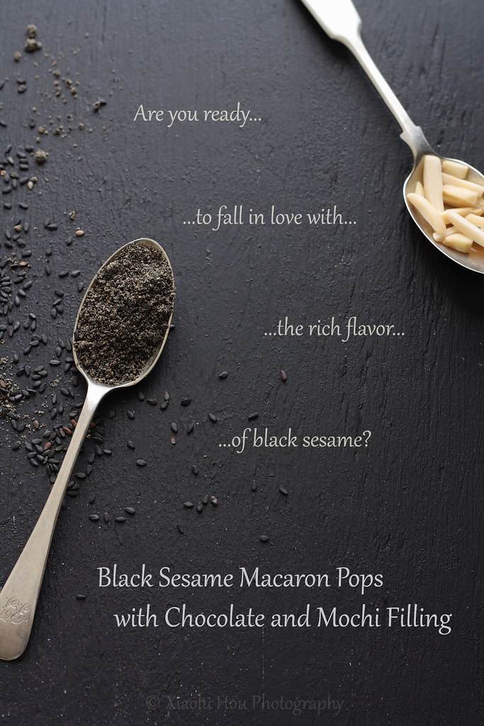 Black Sesame Macaron Ingredients