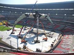 Sexto día de montaje - Estadio Azteca 44