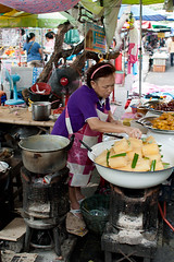 Food Stall outside the Grand Palace