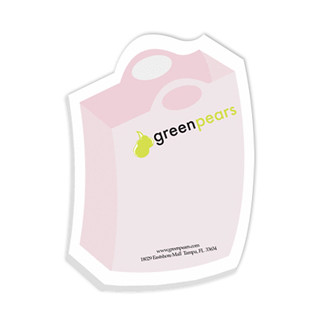 Bic® Promotional Items-Adhesive Die Cut Notepads (Shopping Bag Shape)  3264S
