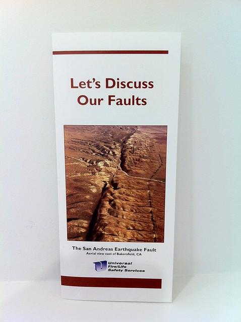 let's discuss our faults.