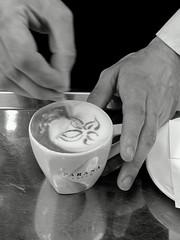 unsung artist (lam 09) Tags: bw flower cup coffee design hands artist hand mani talent toothpick mano fiore caffè tazzina talento macchiato artista stuzzicadenti unsungartist brascafè