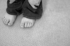 May 17 (Allison Young Photography) Tags: portrait white selfportrait black feet monochrome self project allison carpet foot grey focus toes pattern toe hand gray young monochromatic line sharp jeans denim series 365 grayscale greyscale 2011 blackwhitephotos