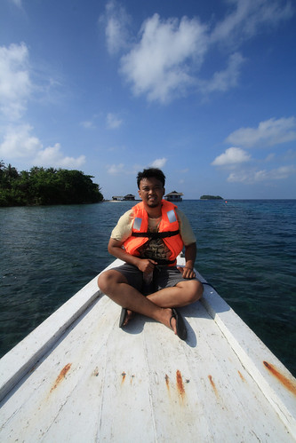 Saya di atas kapal di Karimun Jawa