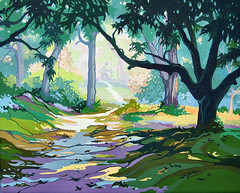 Cool in the Shade (cottagelover1953) Tags: landscape oak live south retro