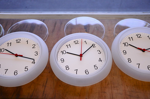 Clocks ready to be painted