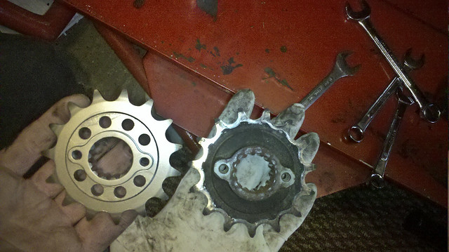 Sprocket new old dirty clean