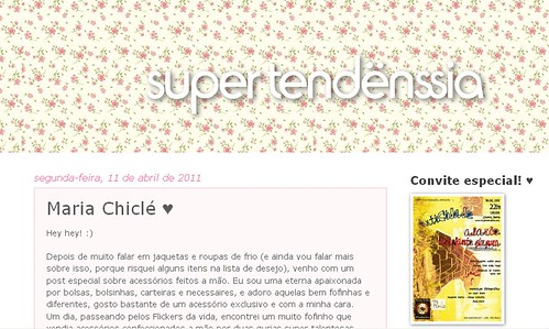 Entrevista no Blog Super-Tendënssia by Maria Chiclé ● Design Fofys