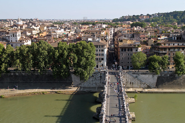 Rome. View from St. Angel castle