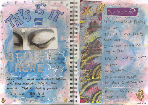 this is it art journal page