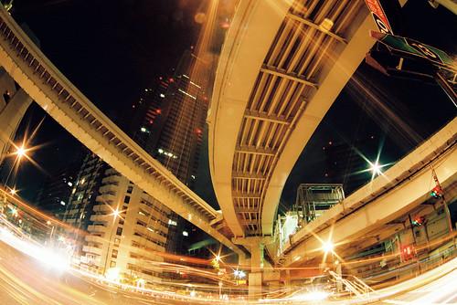 Shinjuku night crossing